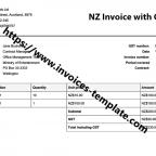 invoice template nz
